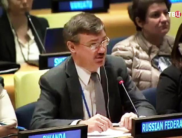 Заместитель постпреда России при ООН Пётр Ильичёв
