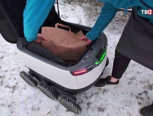 Робот-курьер в Таллине