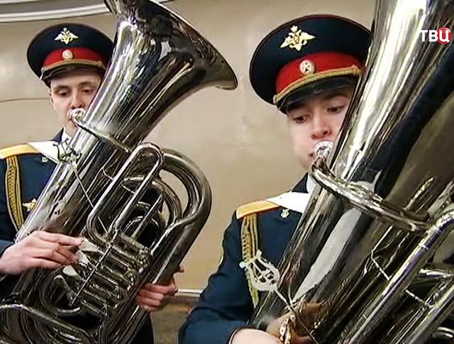 Духовой оркестр 154-ого отдельного комендантского Преображенского полка