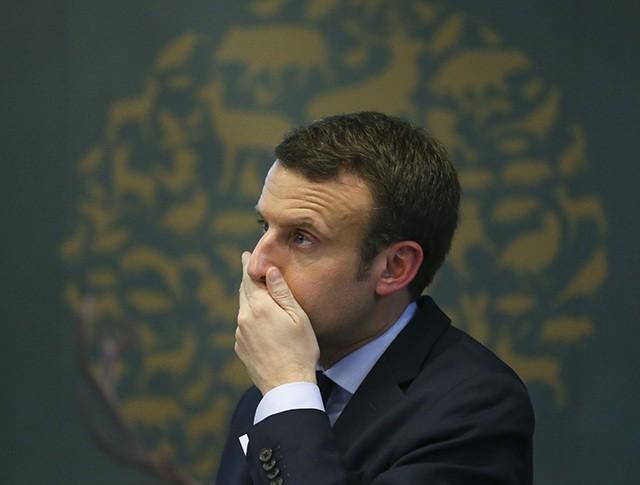Кандидат на пост президента Франции Эмманюэль Макрон