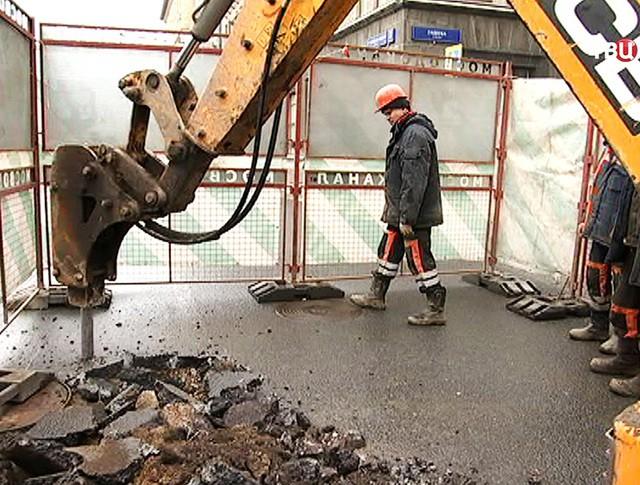 Мосводоканал проводит ремонтные работы
