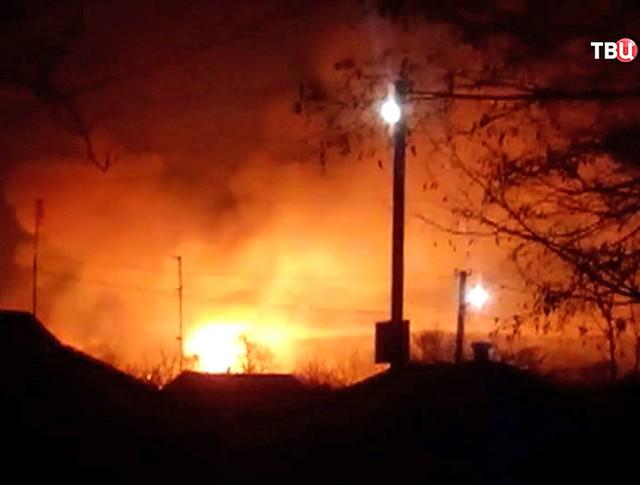 Взрыв на складе боеприпасов на Украине