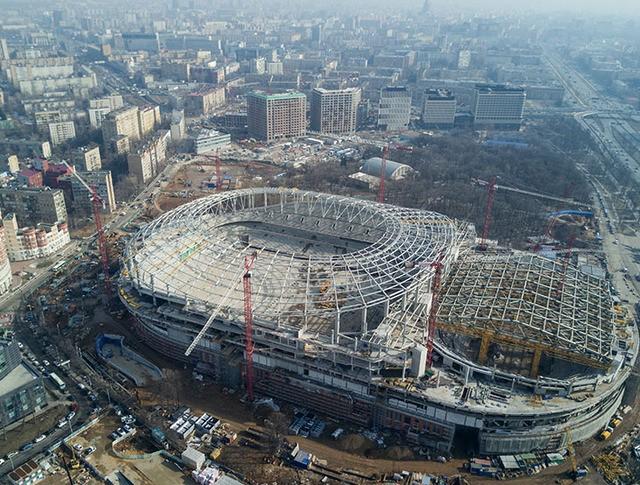 """Работы по реконструкции стадиона """"Динамо"""""""