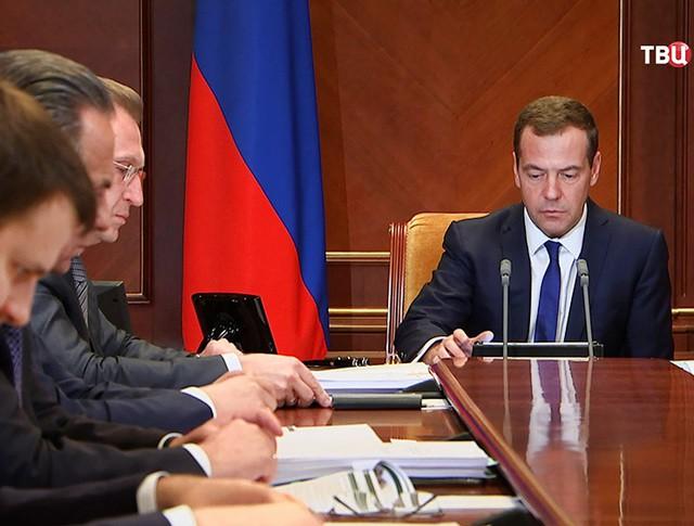 Дмитрий Медведев на совещании с вице-премьерами