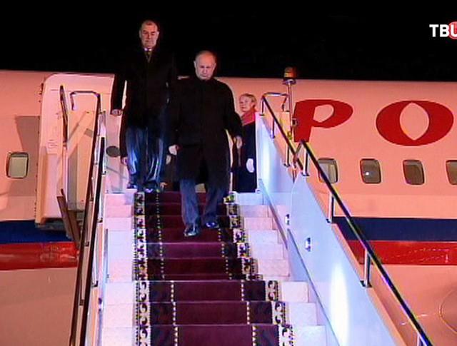 Владимир Путин прибыл в Бишкек