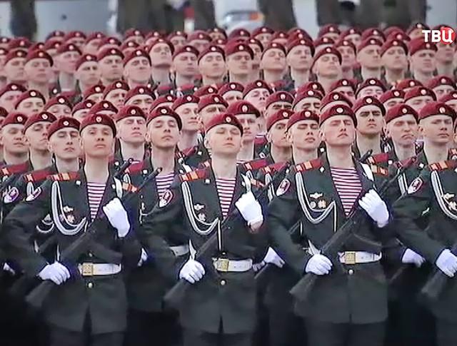 11 Бойцы Росгвардии приняли участие в репетиции Парада Победы