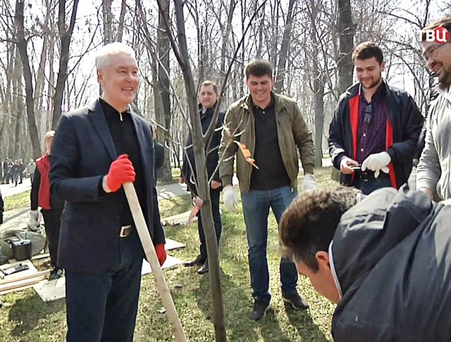 Сергей Собянин принял участие в общегородском субботнике