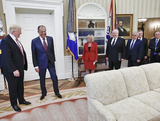 Сергей Лавров и Дональд Трамп в Белом доме
