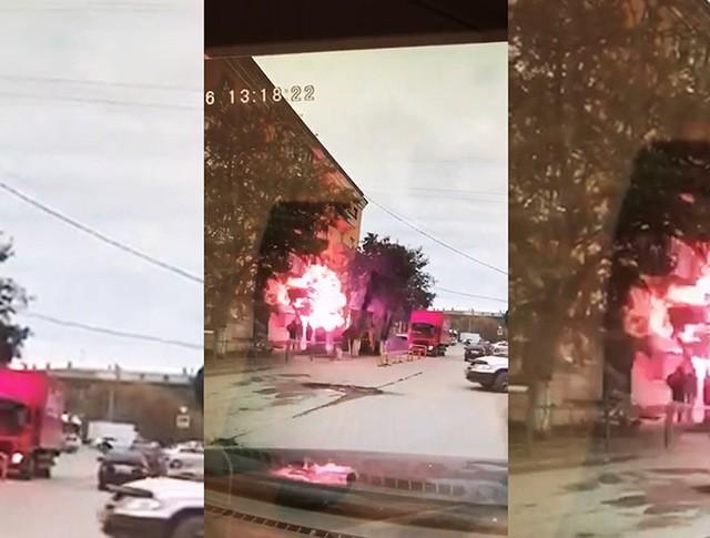 Момент взрыва в Волгограде