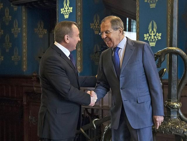 Глава МИД Сергей Лавров и министр иностранных дел Белоруссии Владимир Макей