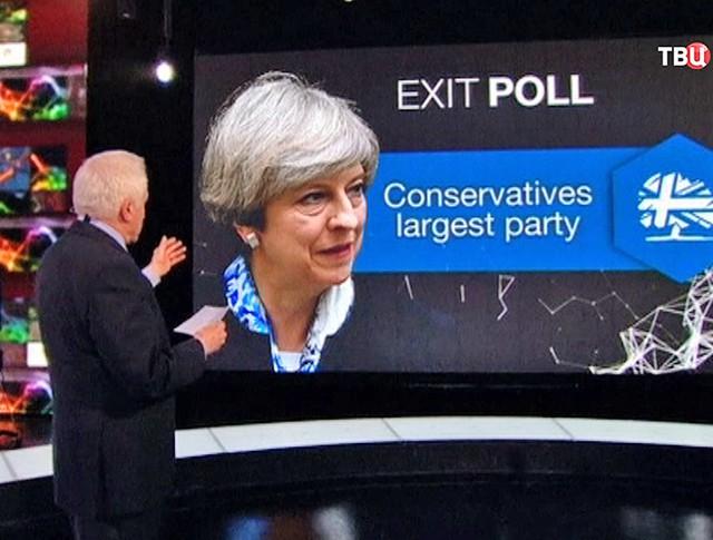 Результаты Терезы Мэй опросов на голосовании