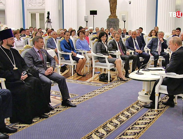 Президент России Владимир Путин встретился с новым созывом Общественной палаты России