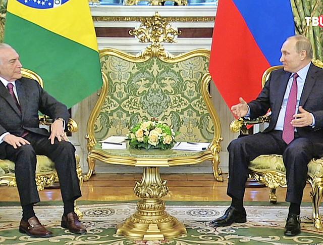 Владимир Путин и Мишел Темер