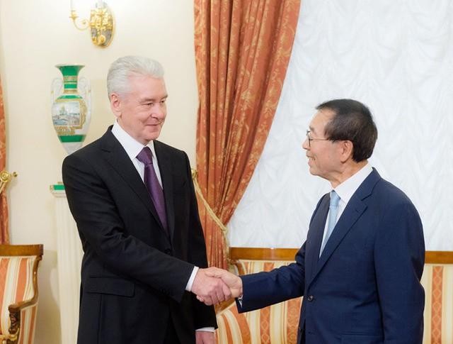 Сергей Собянин и мэр Сеула Пак Вон Сун