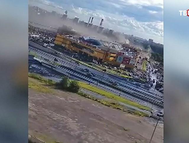 Пожар в ТРЦ «РИО» на Дмитровском шоссе