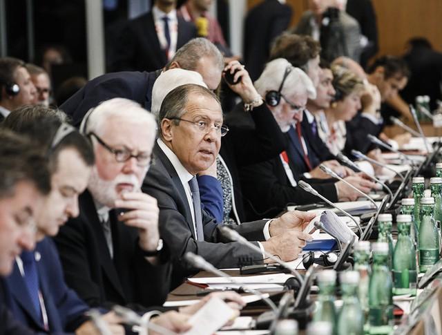 Глава МИД России Сергей Лавров на неформальной встрече министров стран-участниц ОБСЕ