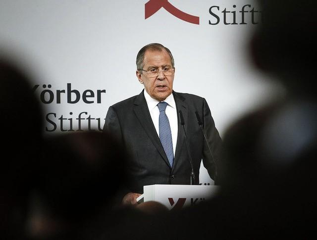 Глава МИД России Сергей Лавров выступил с докладом и ответил на вопросы аудитории в Фонде им. Кербера в Берлине