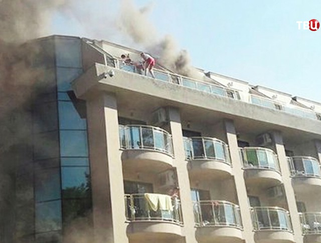 Пожар отеля в Турции