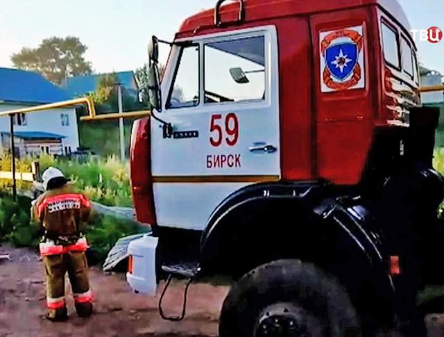 Пожарная машина города Бирск (республика Башкортостан)