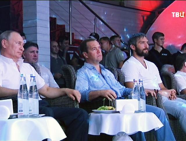 Владимир Путин и Дмитрий Медведев посетили международный турнир по боевому самбо в Сочи