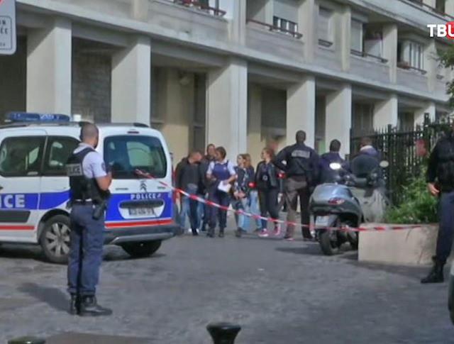 Полиция на месте происшествия во Франции