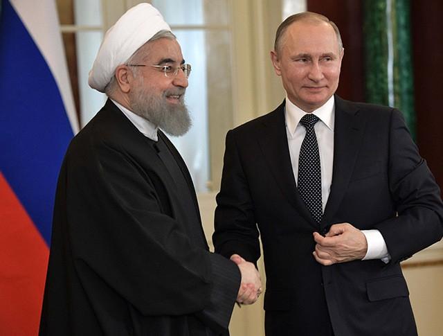 Президент России Владимир Путин и президент Исламской Республики Иран Хасан Рухани