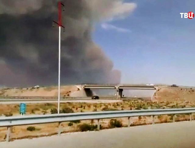 Взрыв на оружейном складе в Азербайджане