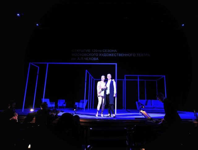 Сбор труппы МХТ им. А.Чехова в преддверии открытия 120-го театрального сезон
