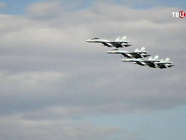 Истребители Су-35С ВКС России