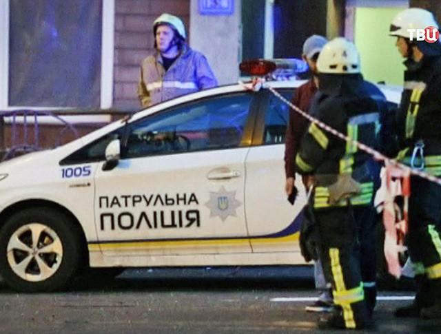 Полиция Украины на месте происшествия
