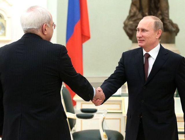Владимир Путин и глава МИД Ирана Джавад Зариф