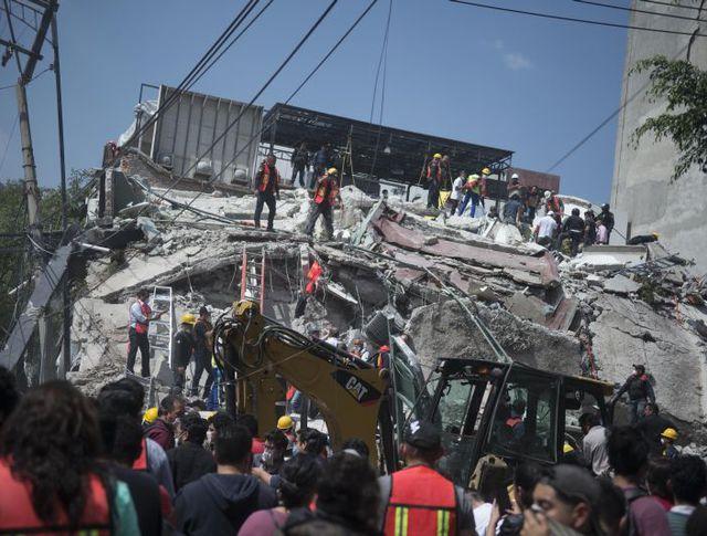 Последствия землетрясения в Мексике