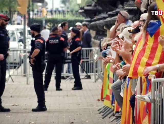 Митинг в Каталонии