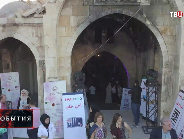 Крытый рынок в Алеппо, Сирия