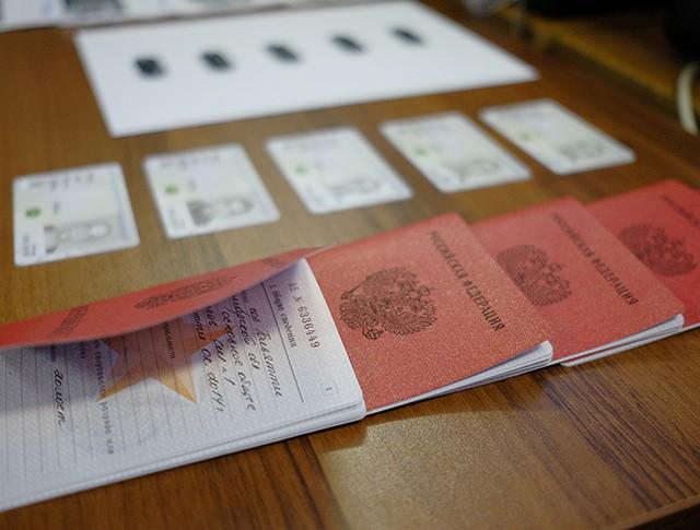 Военные билеты призывников в сборном пункте военного комиссариата