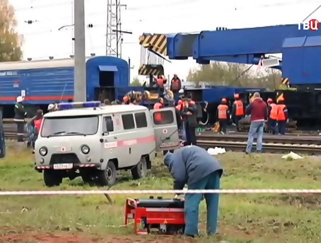 На месте столкновение пассажирского автобуса c поездом во Владимирской области