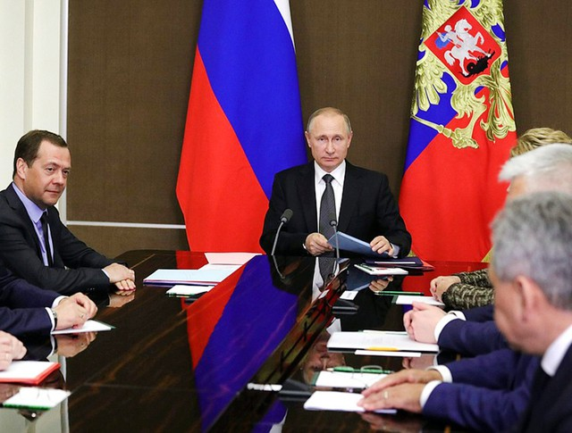 Владимир Путин провел заседание  с членами Совбеза России