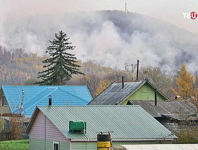Лесные пожары подступают к домам