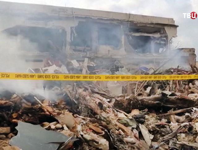 Последствия взрыва в Сомали