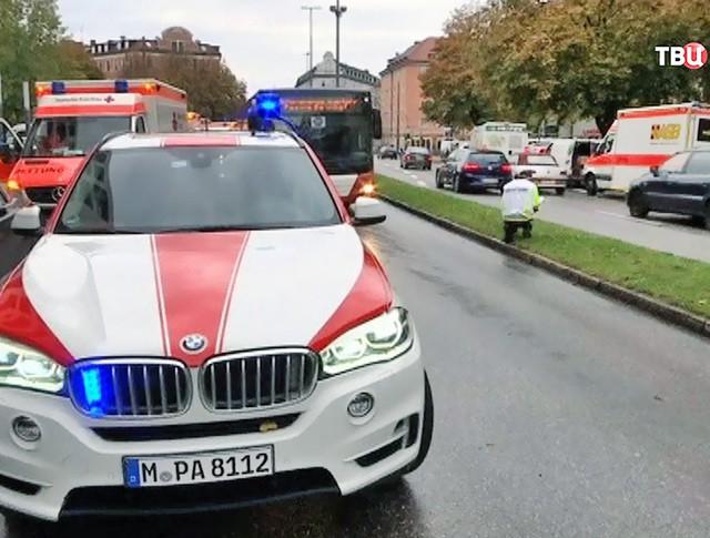 Скорая помощь на месте происшествия в Германии