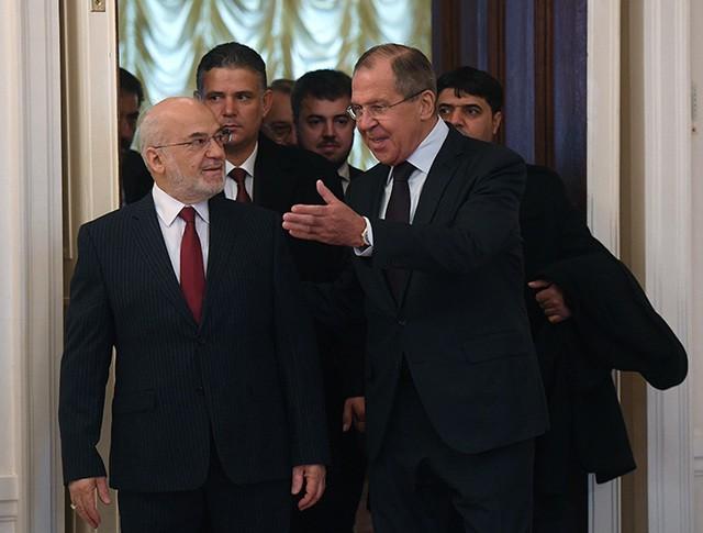 Глава МИД России Сергей Лавров и глава МИД Ирака Ибрагим аль-Джаафари