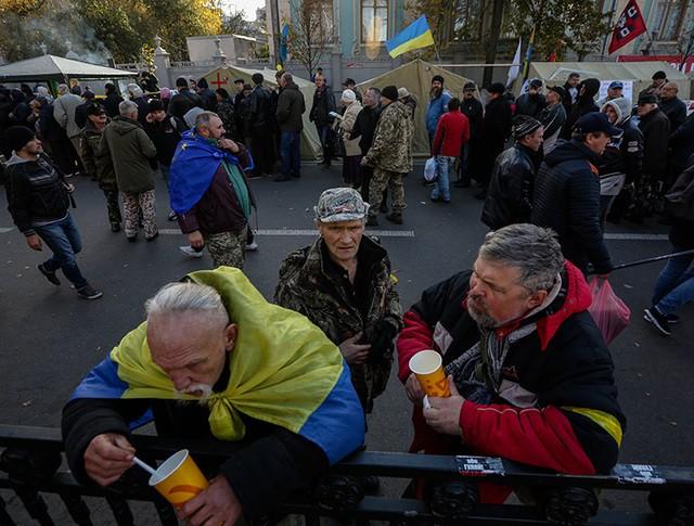 Митингующие на Украине