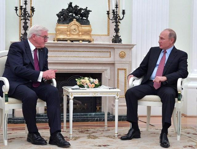 Владимир Путин и Франк-Вальтер Штайнмайер