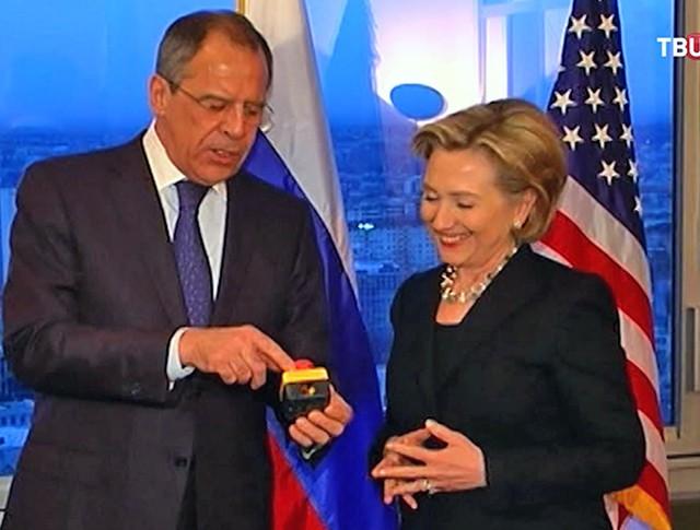 Хилари Клинтон и Сергей Лавров