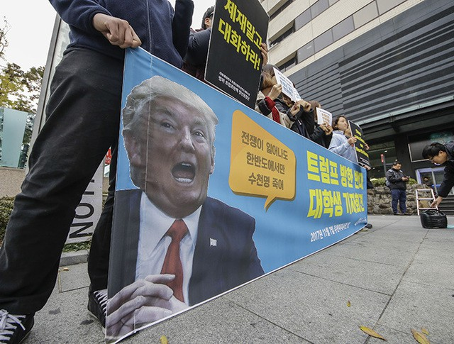 Демонстрация в Сеуле