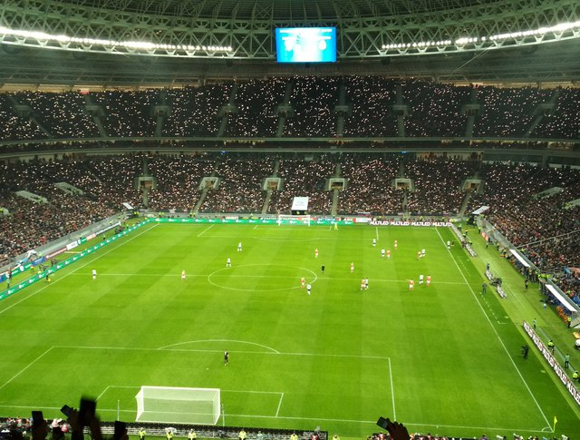 Футбольный матч между сборными России и Аргентины