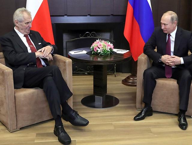 Владимир Путин и Президент Чешской Республики Милош Земан