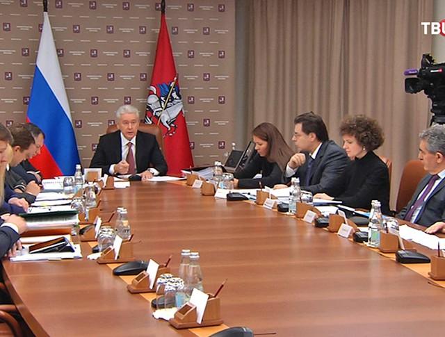 Сергей Собянин на заседании президиума