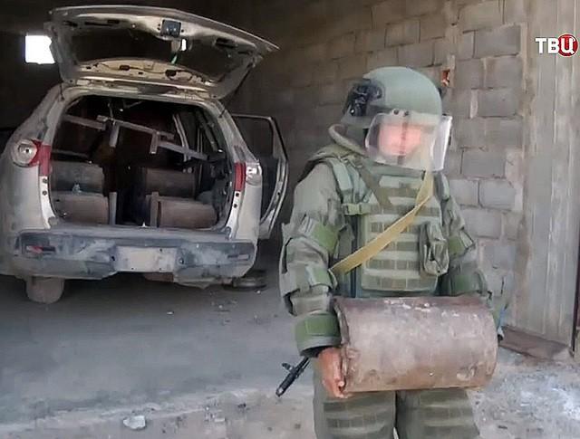 Российские саперы в Сирии