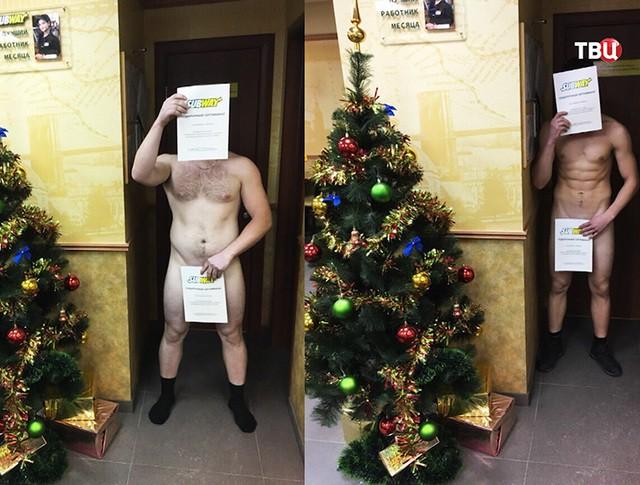 """Голая акция"" в фастфуде"